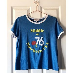NEW Wildfox Middle of Nowhere USA Ringer Tee